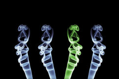 Smoke abstract. Isolated on black Royalty Free Stock Photos