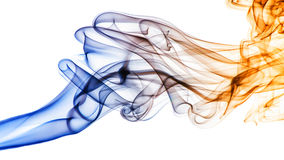 Smoke. Abstract smoke with white background Royalty Free Stock Images