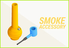 Smoke accessories vector 3d illustration Royalty Free Stock Images