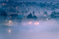 Smoke across city. At Vancouver BC Canada stock images