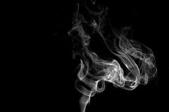 Smoke Against a Black Background Stock Image