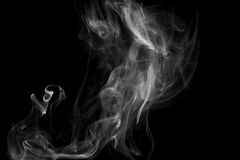 Smoke Against a Black Background Royalty Free Stock Images