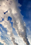 Smoke against the sky Royalty Free Stock Photography
