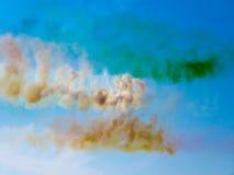 Smoke aircraft of tricolori.Tirrenia arrows, Pisa, Italy, Septem Stock Photos