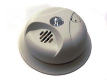 Smoke Alarm 1. Isolated Smoke Detector Stock Image