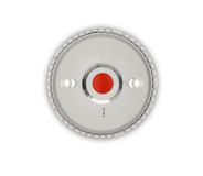 Smoke alarm on red background Stock Images