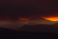 Smoke Along The Front Range Rockies Royalty Free Stock Photography