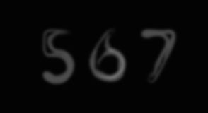 Smoke alphabet font. Numbers 5-7 Royalty Free Stock Images