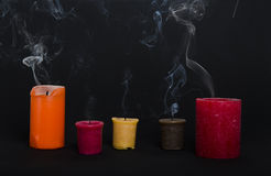 Smoke of Сandles Stock Photos