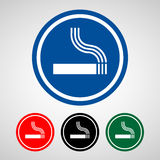 Smoke area icons set great for any use. Vector EPS10. Royalty Free Stock Images