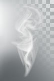 Smoke aroma steam. Vector illustration with transparency Royalty Free Stock Image