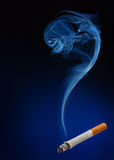 Smoke as question mark Stock Image