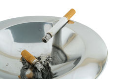 Smoke ashtray Stock Images