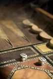 Smoke on the backgammon board Royalty Free Stock Photography