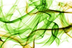 Smoke background. Abstract smoky background in green and yellow colours Royalty Free Stock Images