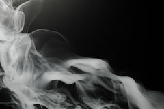 Smoke background on black Stock Photos