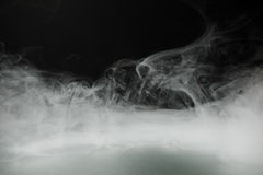Smoke background and dense fog. With copy-space Royalty Free Stock Image