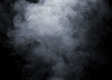 Smoke background. Smoke isolated on black background Stock Photography