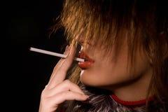 Smoke on the beauty Stock Photography