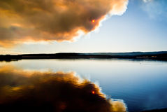 Wildfire Reflections Royalty Free Stock Photo