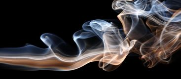 Smoke on black stock illustration