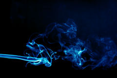 Smoke on black Royalty Free Stock Photography