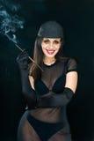 Smoke on black Royalty Free Stock Photography