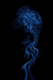 Smoke on black background. Smoke isolated on black background royalty free stock image