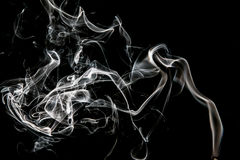 Smoke. On a black background Royalty Free Stock Images
