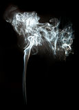 Smoke on a black background Stock Photography