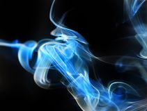 Smoke On Black Background. Blue Wave royalty free illustration