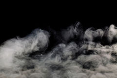 Smoke on black background Royalty Free Stock Image