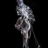 Smoke on a black background Royalty Free Stock Photos