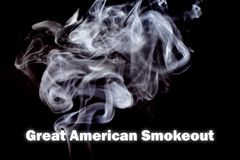 Great American Smokeout illustration royalty free stock image