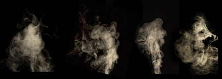 Smoke Black background Used in editing royalty free stock photo