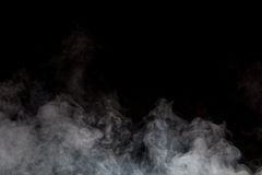 Smoke on black background Royalty Free Stock Photos