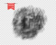 Smoke Black, isolated. Toxic gas transparent, special effect. Vector overlay element for your design. royalty free illustration