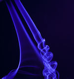 Smoke in blue. This is a blue smoke isolated Stock Photo