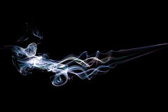 Smoke Blue and Yellow Stock Image