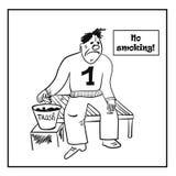 Smoke break comic   illustration Royalty Free Stock Photography