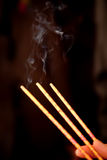 Smoke from Burning Incense royalty free stock photos