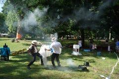 Smoke Cannon 1 Stock Photography