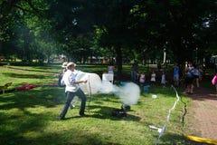 Smoke Cannon 8 Stock Photography