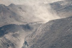 Smoke from Canyon on Mount Saint Helens Royalty Free Stock Images