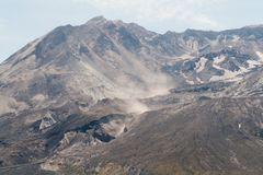 Smoke from Canyon on Mount Saint Helens Stock Photography