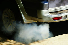Smoke car polution Stock Images