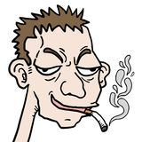 Smoke cartoon Royalty Free Stock Images