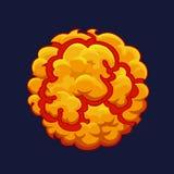 Smoke cartoon Explode effect. Bang or detonation 2d element. Vector Royalty Free Stock Photo