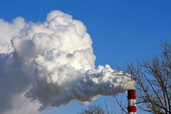 Smoke from  chimney Royalty Free Stock Photography