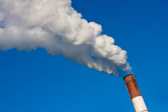 Smoke from chimney Stock Photography